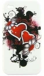 coque iphone 4 double coeur