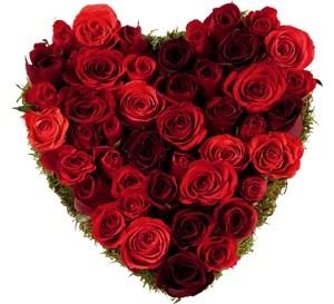 bouquet de rose coeur